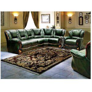 Угловой кожаный диван Изабель 2 фото