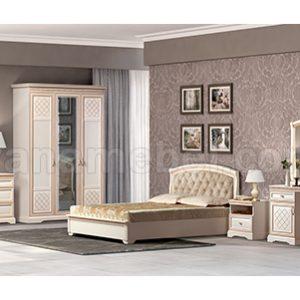 Спальня ПАРМА 2 (Кремовый белый) квадрат