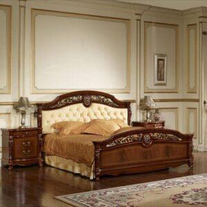 Спальня АФИНА Орех с золотом квадрат