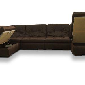 Модульный П-образный диван Елена1 фото